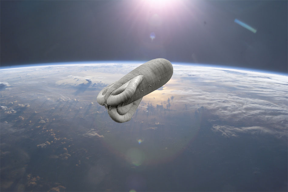 ClangBoomSteam airship in space