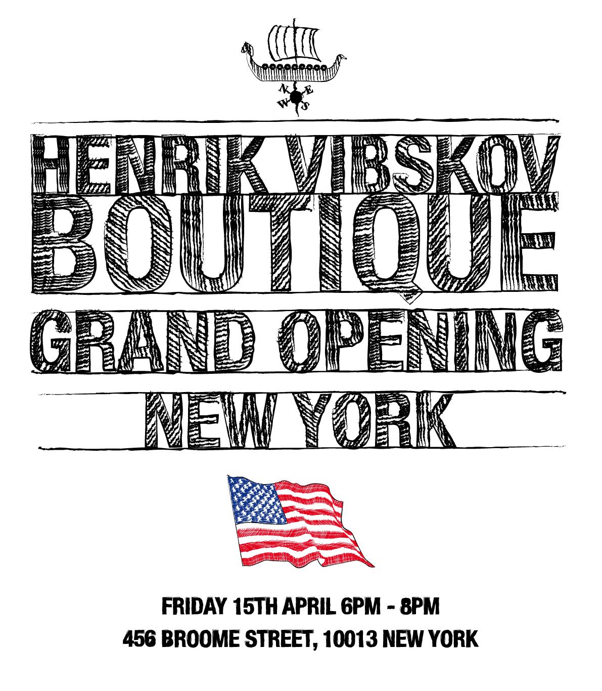 Henrik Vibskov New York boutique opening