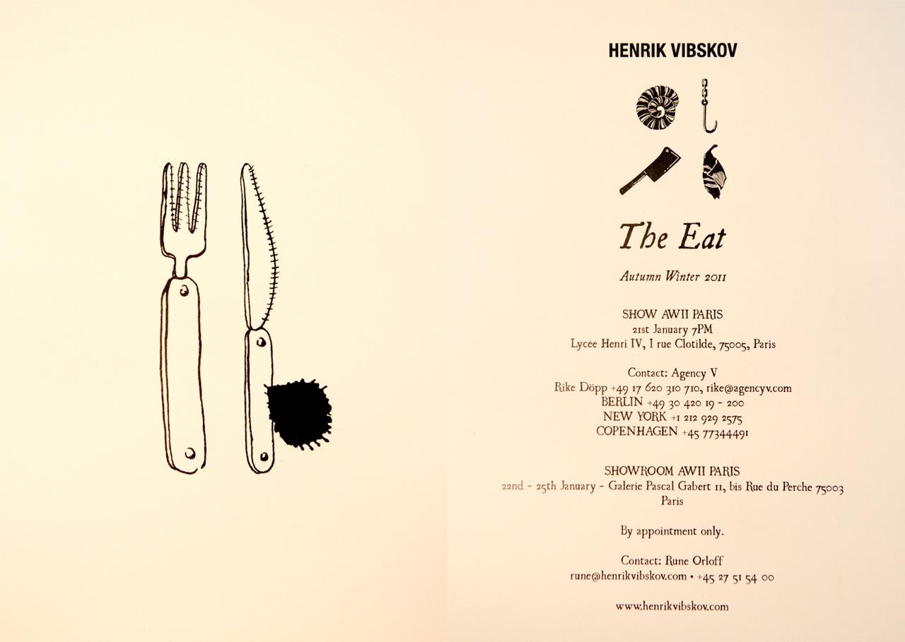 Henrik Vibskov 'The Eat' show Paris