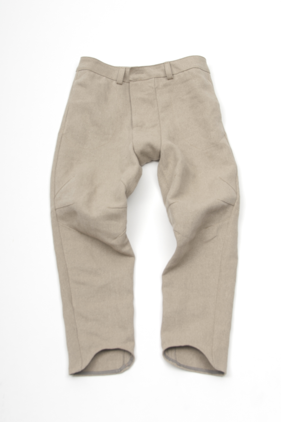ClangBoomSteam hemp trousers close-up